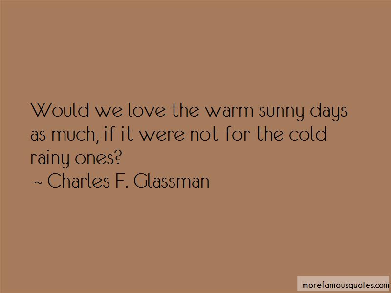 Quotes About Warm Sunny Days
