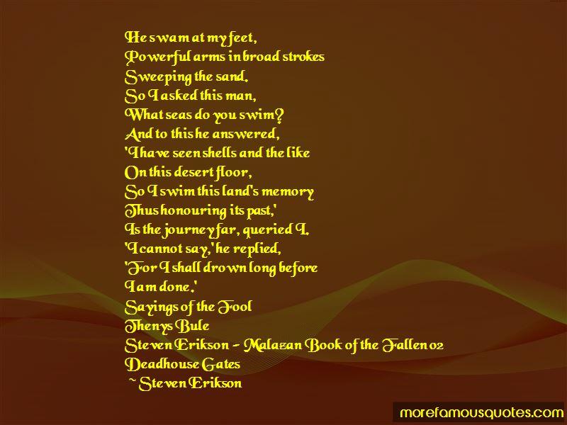 Steven Erikson Malazan Book Of The Fallen Quotes