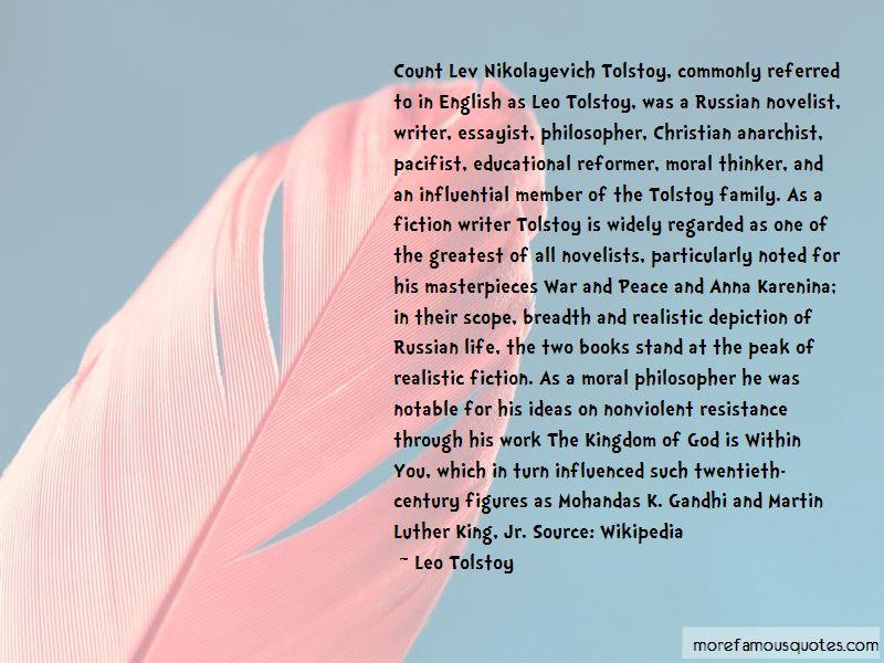 Tolstoy Kingdom Of God Quotes