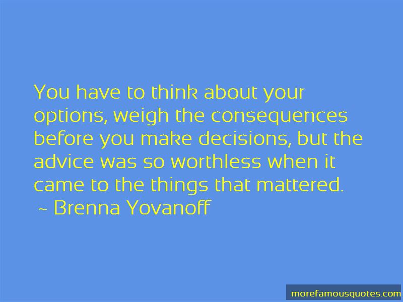 Weigh Your Options Quotes