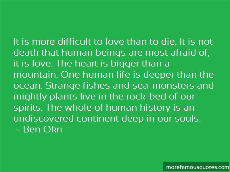 Love Deeper Than The Ocean Quotes