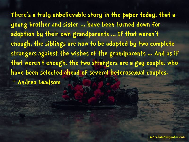 Quotes About Adopted Siblings