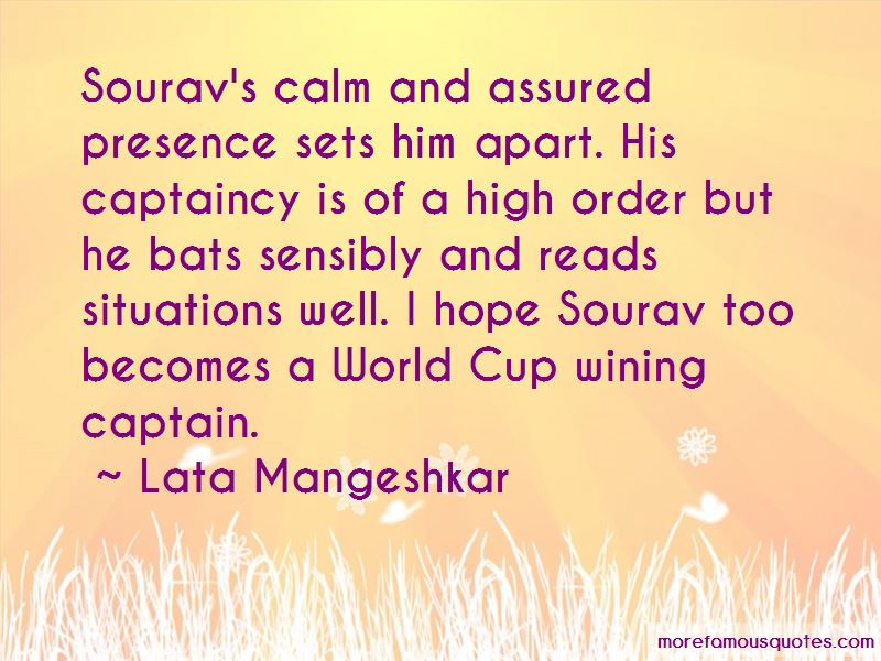 Quotes About Captaincy
