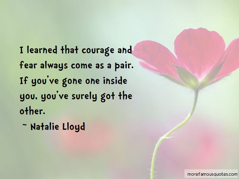 Courage And Fear Quotes Pictures 2