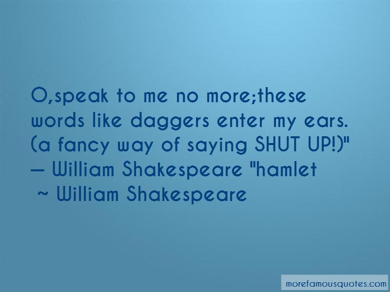Quotes About Ears In Hamlet