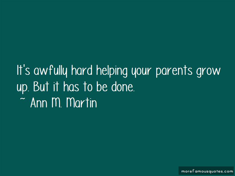Quotes About Helping Your Parents
