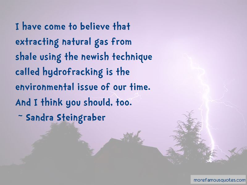 Quotes About Hydrofracking