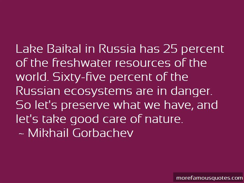 Quotes About Lake Baikal