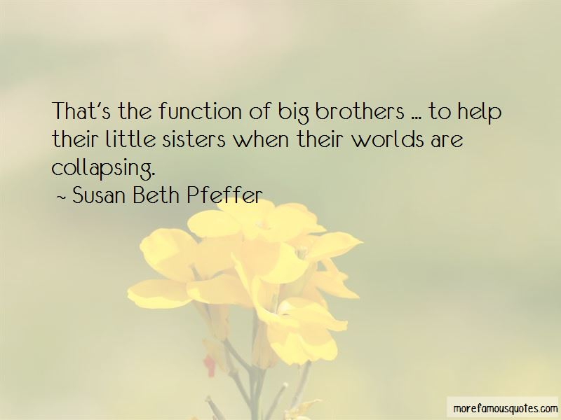 Quotes About Little Brothers And Big Sisters