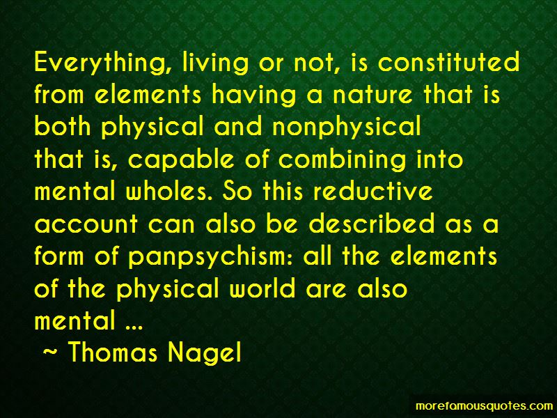 Quotes About Panpsychism