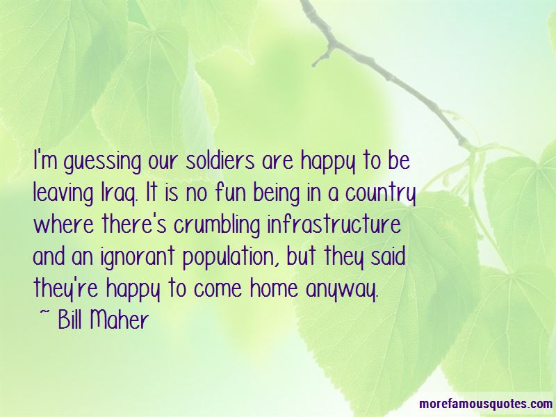 Quotes About Soldiers Leaving Home