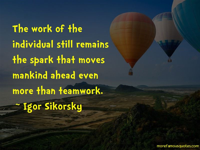 Quotes About Teamwork And Individual Work