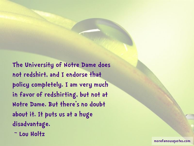 Quotes About University Of Notre Dame