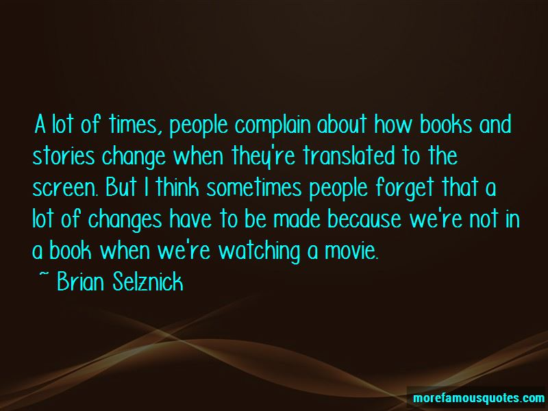 Quotes About Watching A Movie