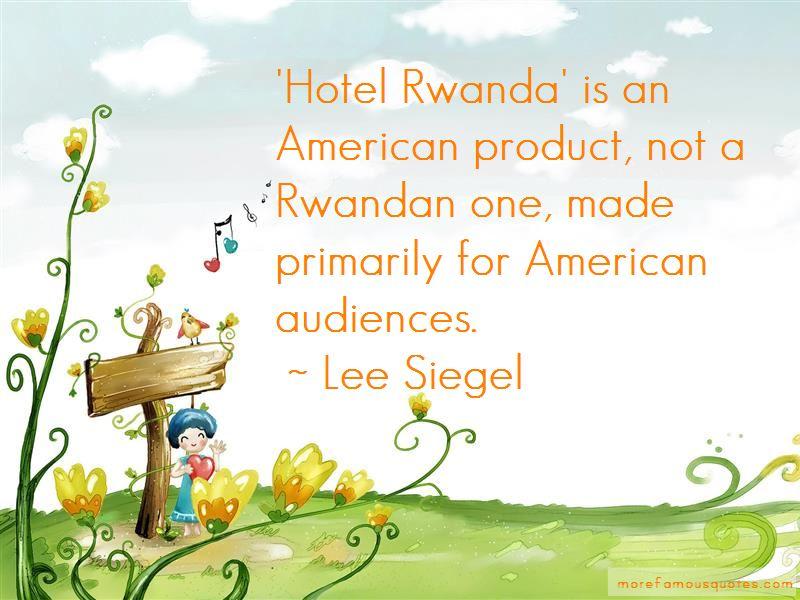 Rwanda Hotel Quotes