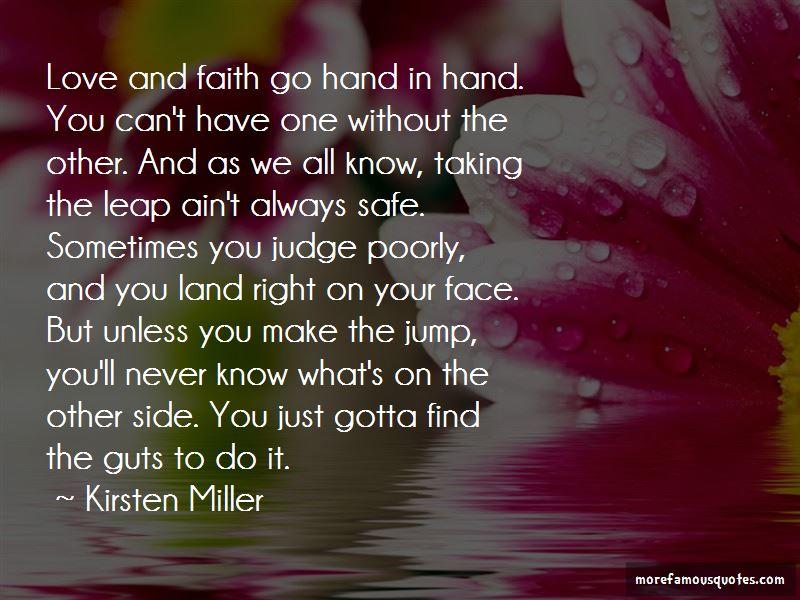 Leap Of Faith Quotes | Taking A Leap Of Faith Love Quotes Top 1 Quotes About Taking A Leap