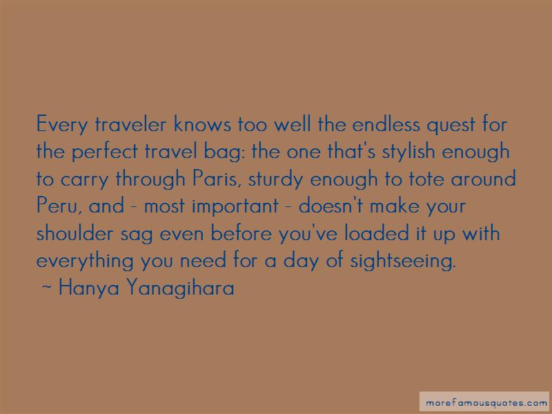 Travel Bag Quotes