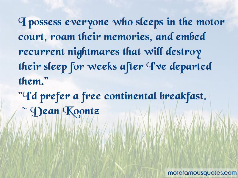Continental Breakfast Quotes