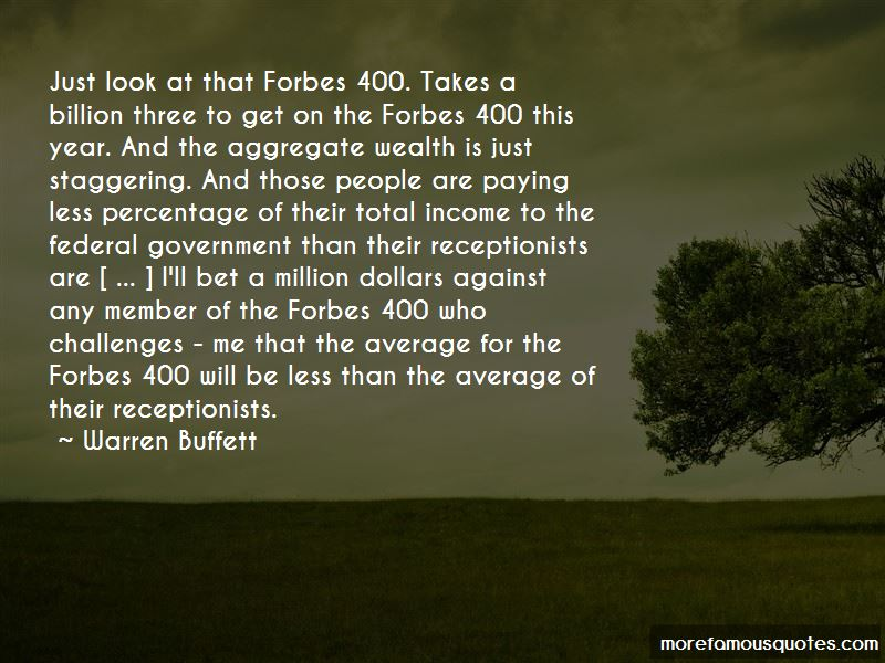 Forbes 400 Quotes