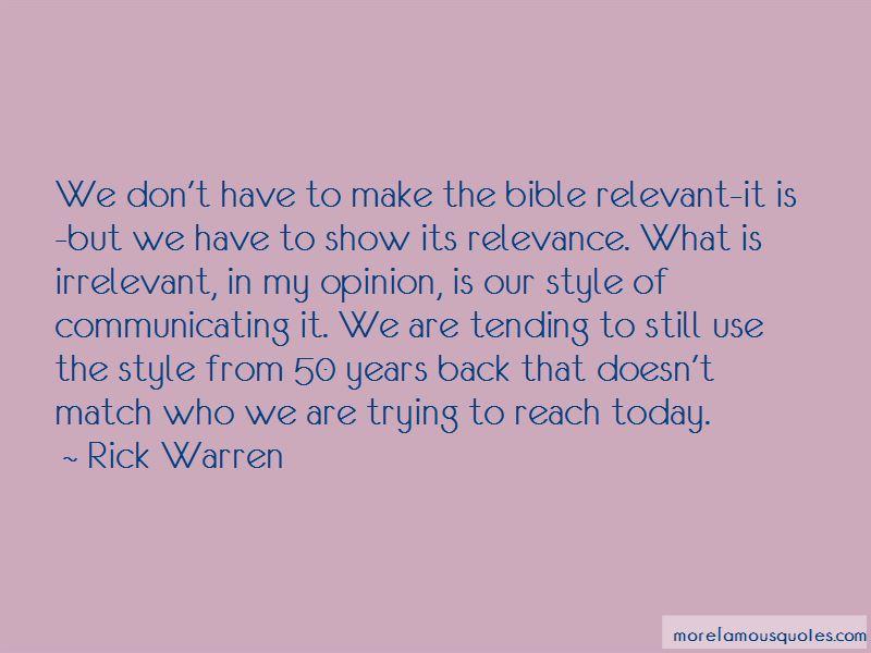 Irrelevant Bible Quotes