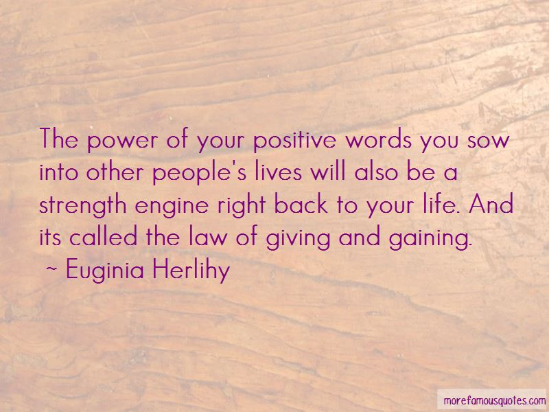 Power Of Positive Words Quotes