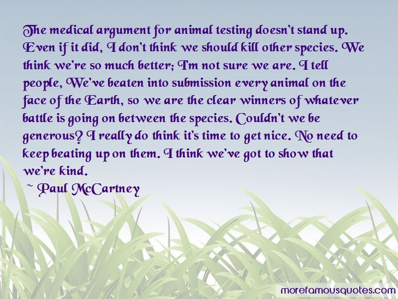 argument for animal testing