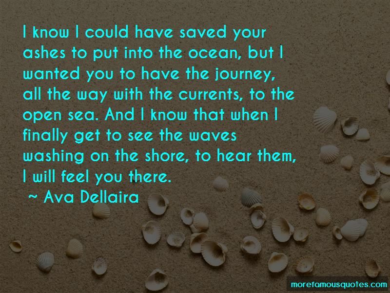 Quotes About Ashes In The Ocean