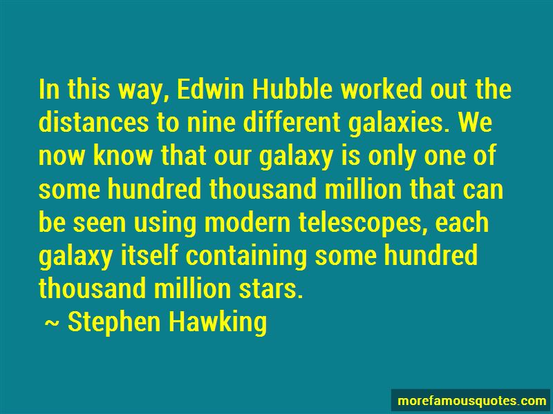 Quotes About Edwin Hubble