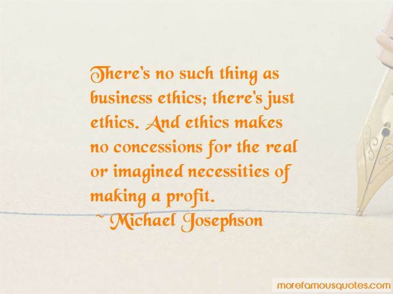 Quotes About Ethics In Business