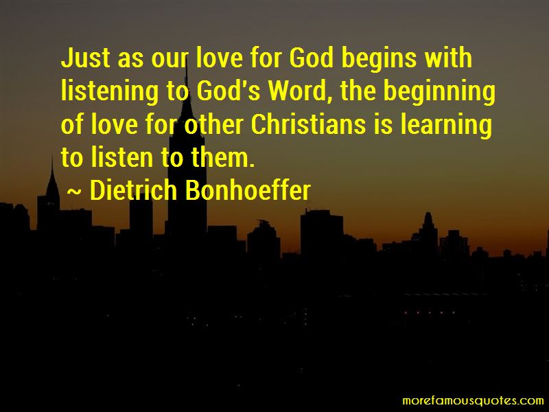 Quotes About Our Love For God