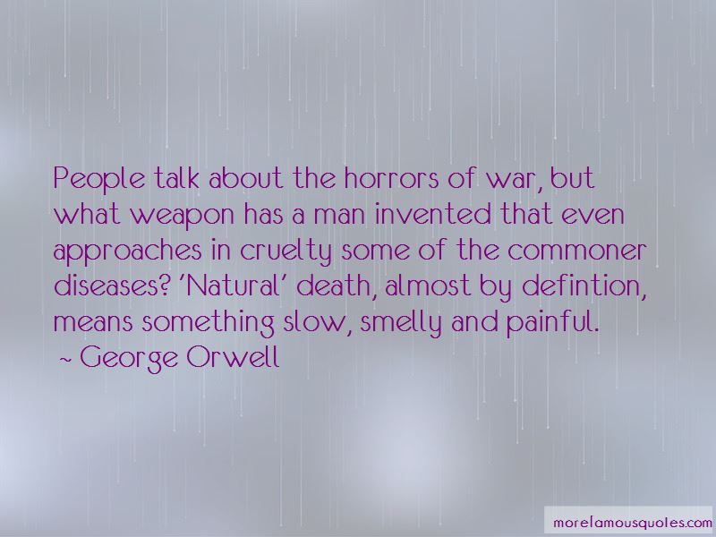 Quotes About The Horrors Of War