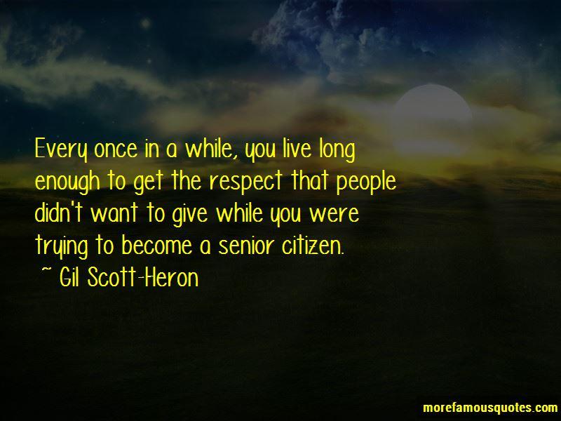 Respect Senior Citizen Quotes