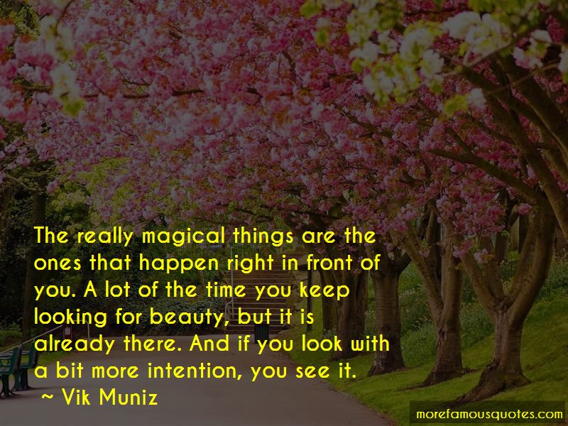Beauty In Front Of You Quotes