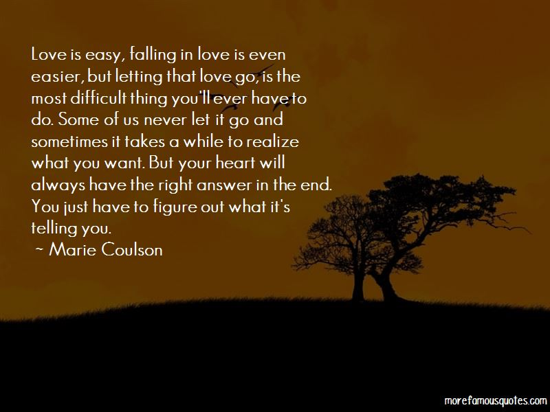 Falling In Love Is Never Easy Quotes