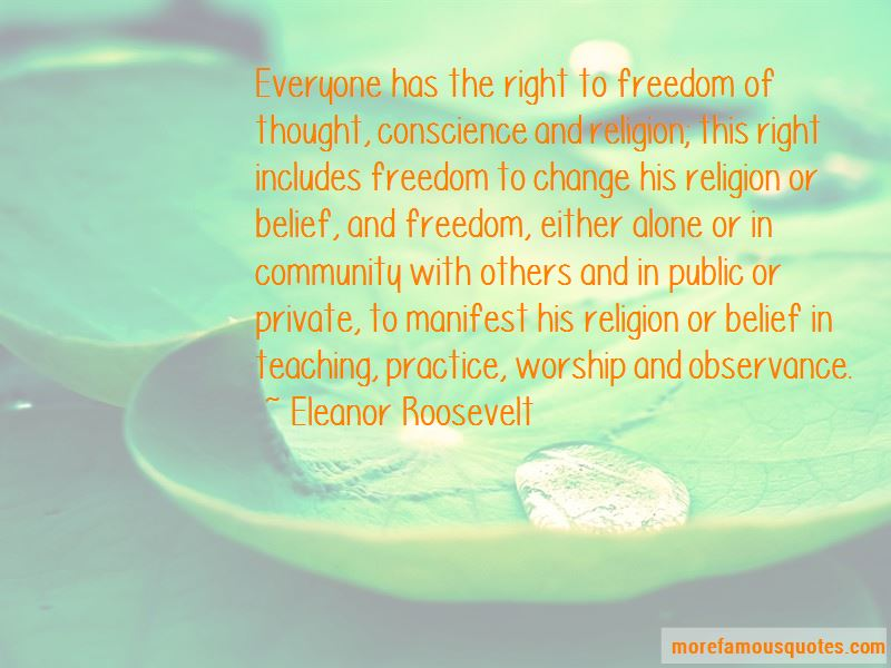 Freedom Of Thought Conscience And Religion Quotes
