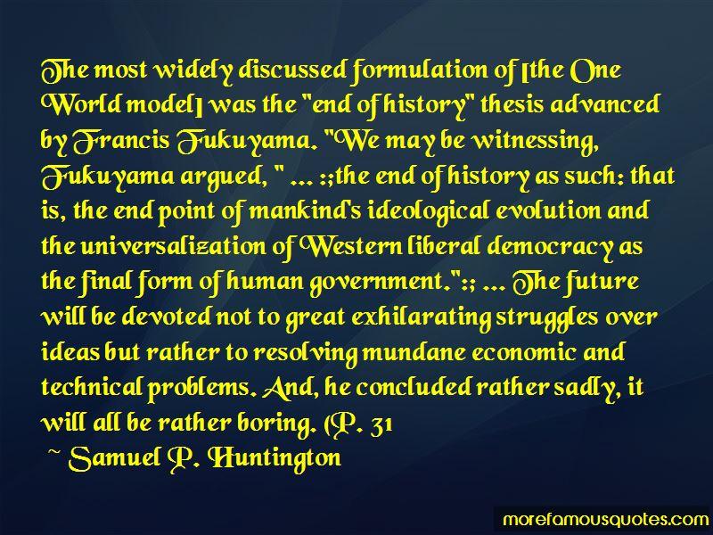 Fukuyama Democracy Quotes