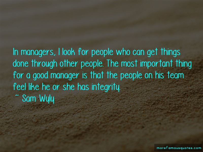 Good Team Manager Quotes