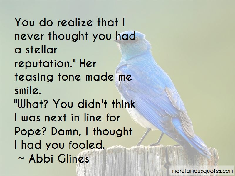 I Thought I Had You Quotes