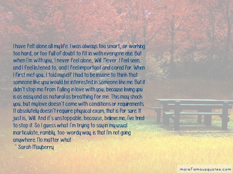 I Would Never Stop Loving You Quotes