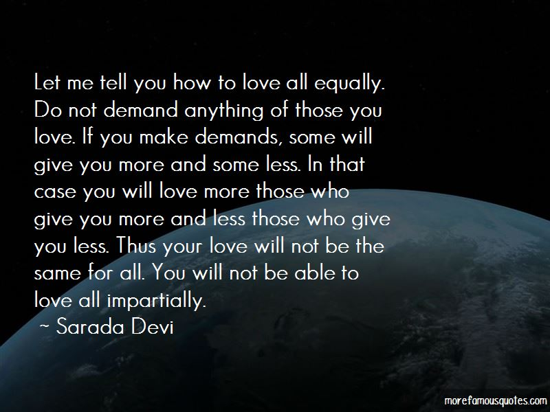 Love All Equally Quotes