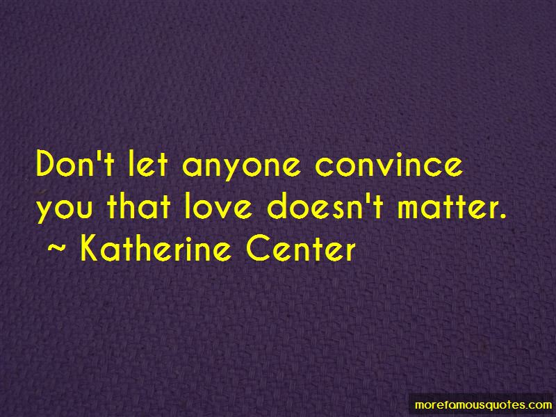 Love Doesn't Matter Quotes