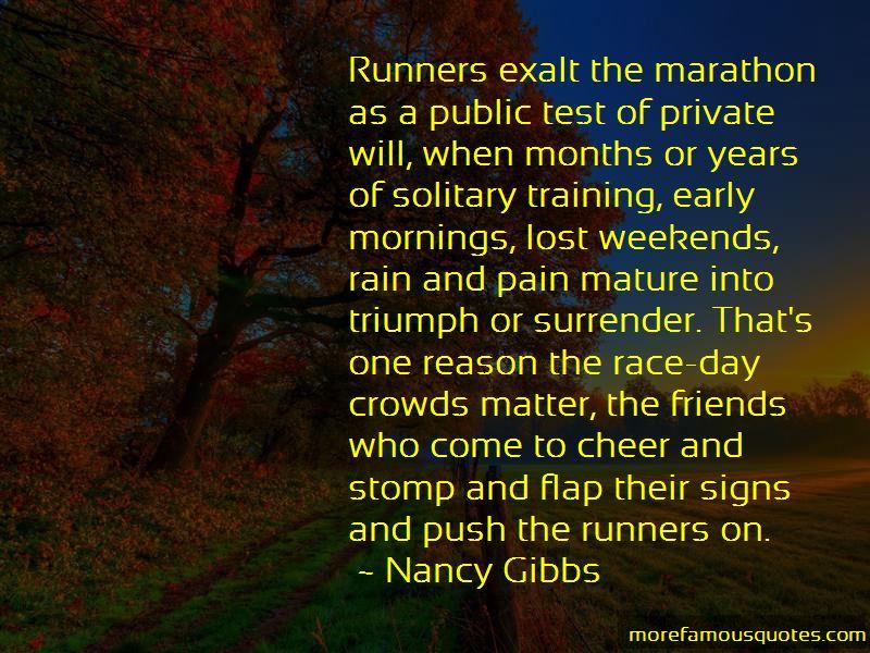 Marathon Race Day Quotes