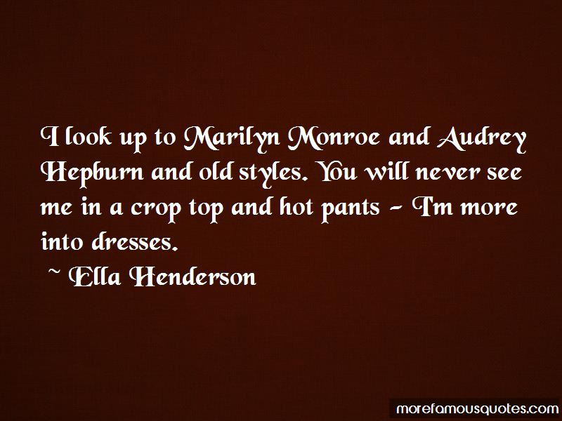 Marilyn And Audrey Quotes