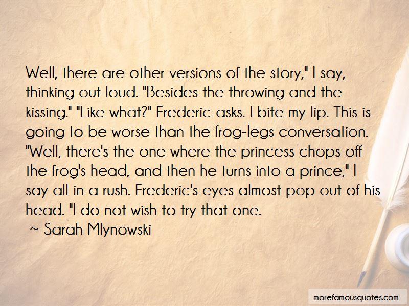 Princess Kissing Frog Quotes