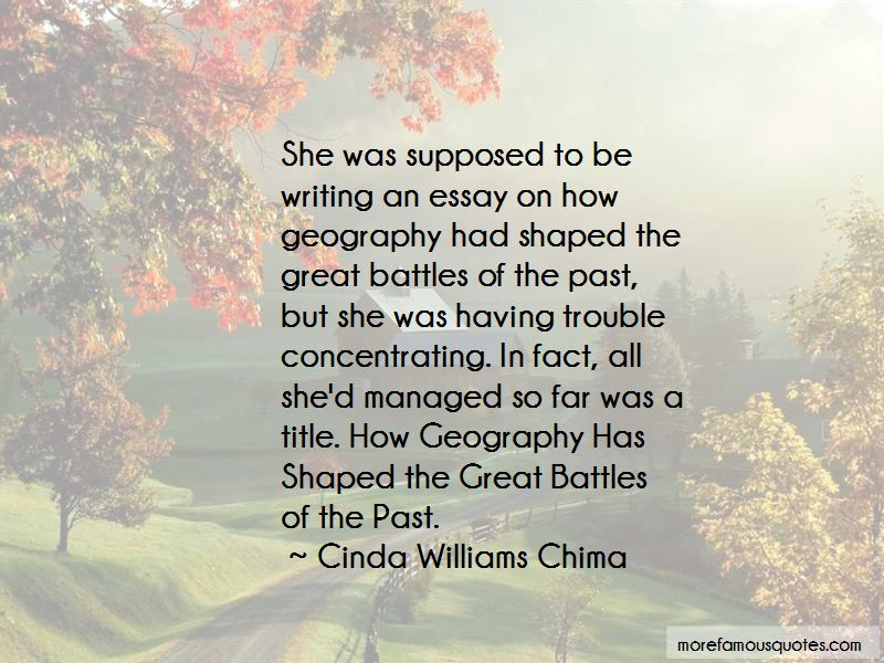 Quotes About Geography