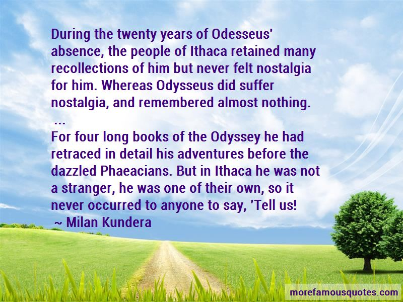 Quotes About Ithaca In The Odyssey