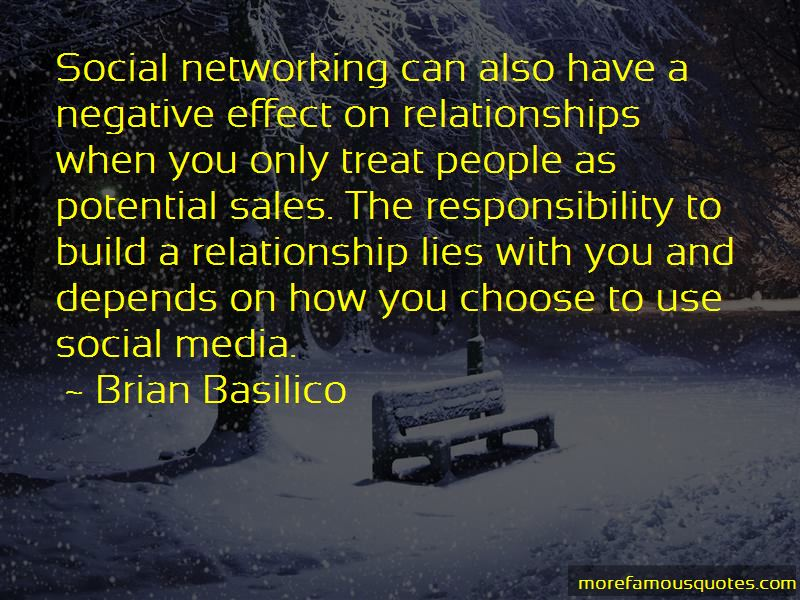 On effects relationships networking social Social Networking