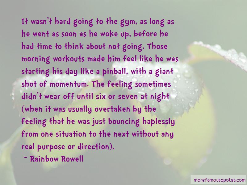 Quotes About Morning Workouts