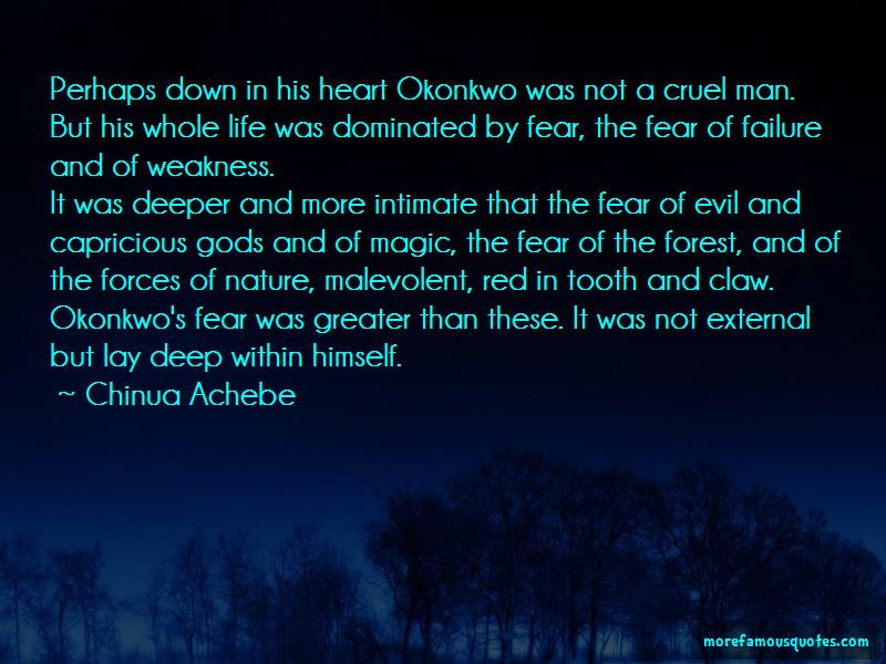 Quotes About Okonkwo's Fear