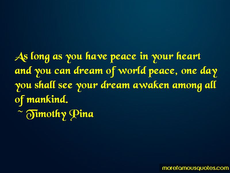 Quotes About Peace One Day